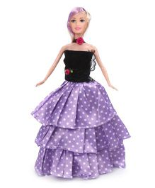Toymaster Betty Doll Set Purple And Black - 11 Inches