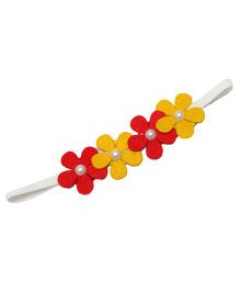 D'Chica A Chic Felt Band For Girls - Yellow & Red