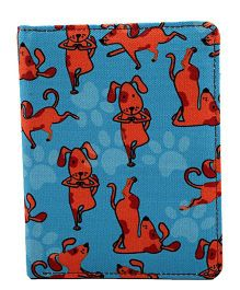 The Crazy Me My Pet My Best Friend Passport Wallet - Blue