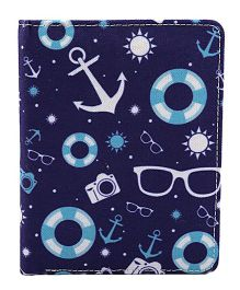 The Crazy Me  Vintage Anchor Travel Passport Wallet - Navy Blue