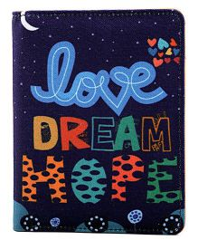 The Crazy Me Love Dream Hope Passport Wallet - Navy Blue