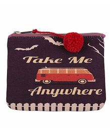 The Crazy Me Take Me Anywhere Make Up Or Coin Pouch - Multicolor
