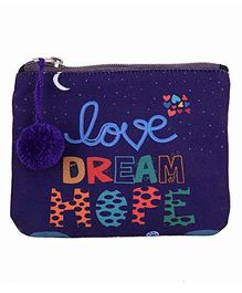 The Crazy Me Love Dream Hope Make Up Or Coin Pouch - Blue
