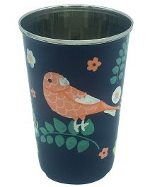 The Crazy Me Handpainted Bird Pattern Tumbler Large - Blue