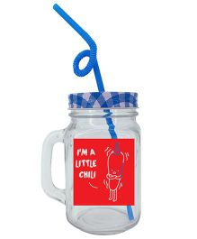 The Crazy Me Im A little Chilli Mason Jar  - Blue