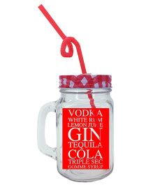 The Crazy Me Long Island Mason Jar  - Red