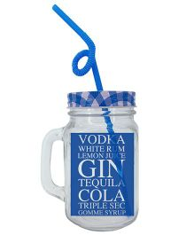 The Crazy Me Long Island Mason Jar - Blue