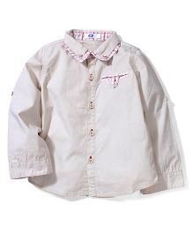 Enfant Double Collar Shirt - Cream