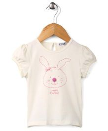 Enfant Lovely Rabbit Print Top - Cream