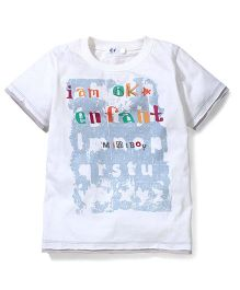 Enfant I am Ok Print T-Shirt - White