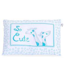 TomTom Joyful Baby Pillow Giraffe Print - Blue White