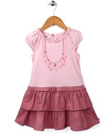 Enfant Jewelry Print Dress - Light Pink