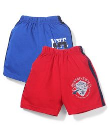 Doreme Casual Shorts Pack of 2 - Blue Red