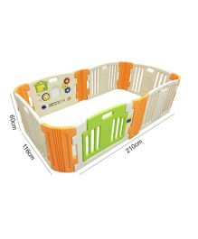 Babycenter India Baby Room Standard With 2 Extension - Beige Green Orange