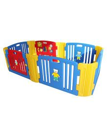 Babycenter India Baby Room Standard With 2 Extension - Red Blue Yellow