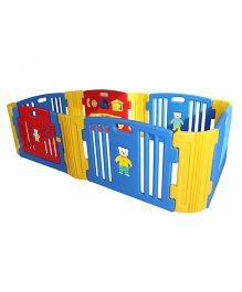 Babycenter India Baby Room Melody With 2 Extension - Blue Red Yellow