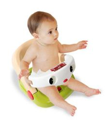 Babycenter India Baby Bath Chair - Cream Green White