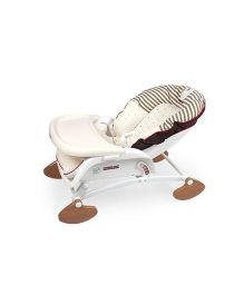 Babycenter India Baby Royal Rocker With Reclining Bed - White & Yellow