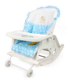 Babycenter India Baby Royal 4 Positions Reclining Bed - Blue And White