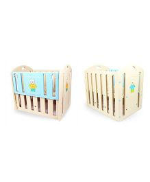 Babycenter India Baby Bunny Cot - Blue And Cream