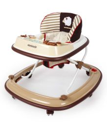 Babycenter India Baby Melody Fun Walker - Beige And Brown