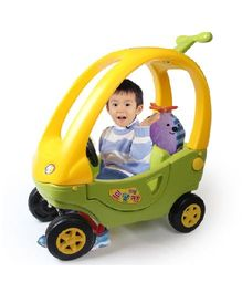 Babycenter India Baby Mini Ride On - Yellow& Green