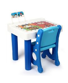 Babycenter India Princess Desk With Single Chair - Blue & White