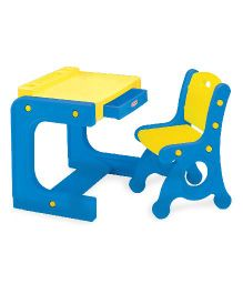 Babycenter India Prince Desk With Single Chair - Blue & Yellow