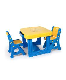 Babycenter India Prince Desk With Double Chairs - Blue & Yellow