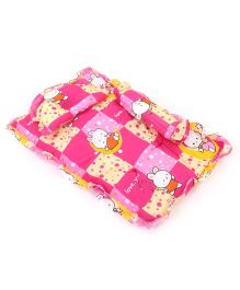 Baby Bedding Set With Bolster And Pillow Bear Print - Pink