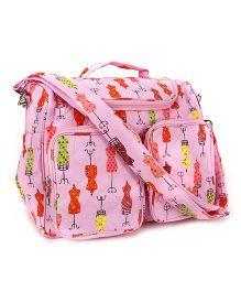 Little Wacoal Cloth Print Diaper Bag - Pink