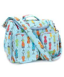 Little Wacoal Cloth Print Diaper Bag -  Blue