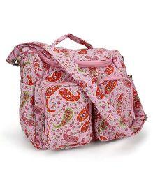 Little Wacoal Flower Print Diaper Bag - Pink