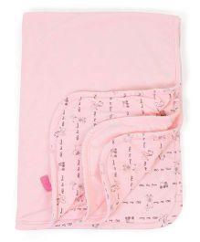 Little Wacoal Animal Print Blanket - Pink