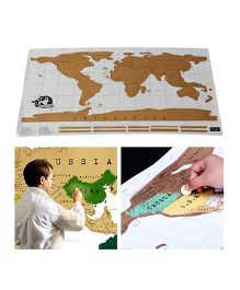Studio Briana World Scratch Wall Map Poster