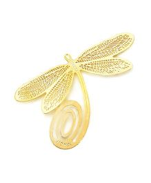 Studio Briana Gold Plated Dragonfly Metal Clip Bookmark