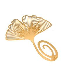 Studio Briana Golden Ginkgo Leaf Metal Bookmark