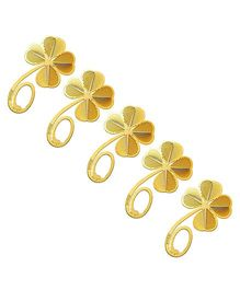Studio Briana 18K Gold Plated Clover Metal Bookmark - 5 Pieces