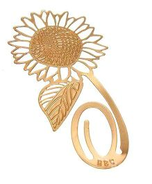 Studio Briana Golden Sunflower Metal Bookmark
