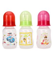 Mee Mee Polypropylene Plastic Feeding Bottle 3 Piece Set - 125 ml