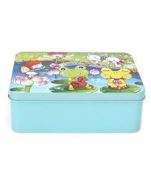Playmate Puzzle With Numbers Frog Print - Aqua Blue