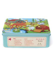 Playmate Puzzle With Numbers Animal Print - Aqua Blue