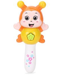 Toymaster Orff Music Rattle Orange And Yellow - 6 Inches