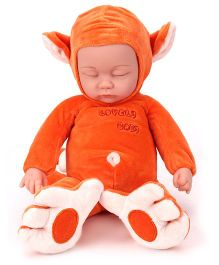 Toymaster Soft Sleeping Doll - Orange