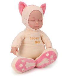 Toymaster Soft sleeping Doll Peach - 14 Inches