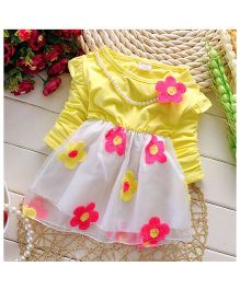 Pikaboo Michelle's Pearls & Flowers Dress - Yellow