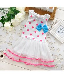 Pikaboo Polka Dotted Party Wear Dress - Pink