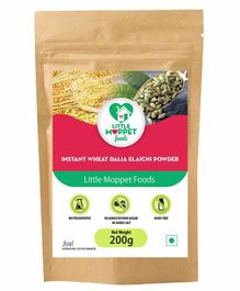 Little Moppet Baby Foods Instant Wheat Dalia Elaichi Powder - 200 gm