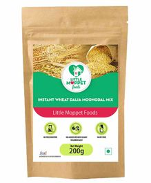 Little Moppet Baby Foods Instant Wheat Dalia Moongdal Mix - 200 gm