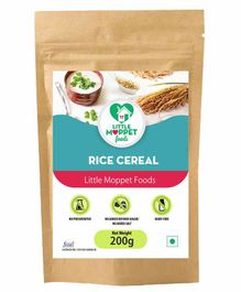 Little Moppet Baby Foods Organic Rice Cereal - 200 gm